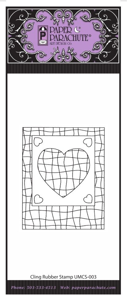 Paper Parachute Rubber Stamp - UMCS03