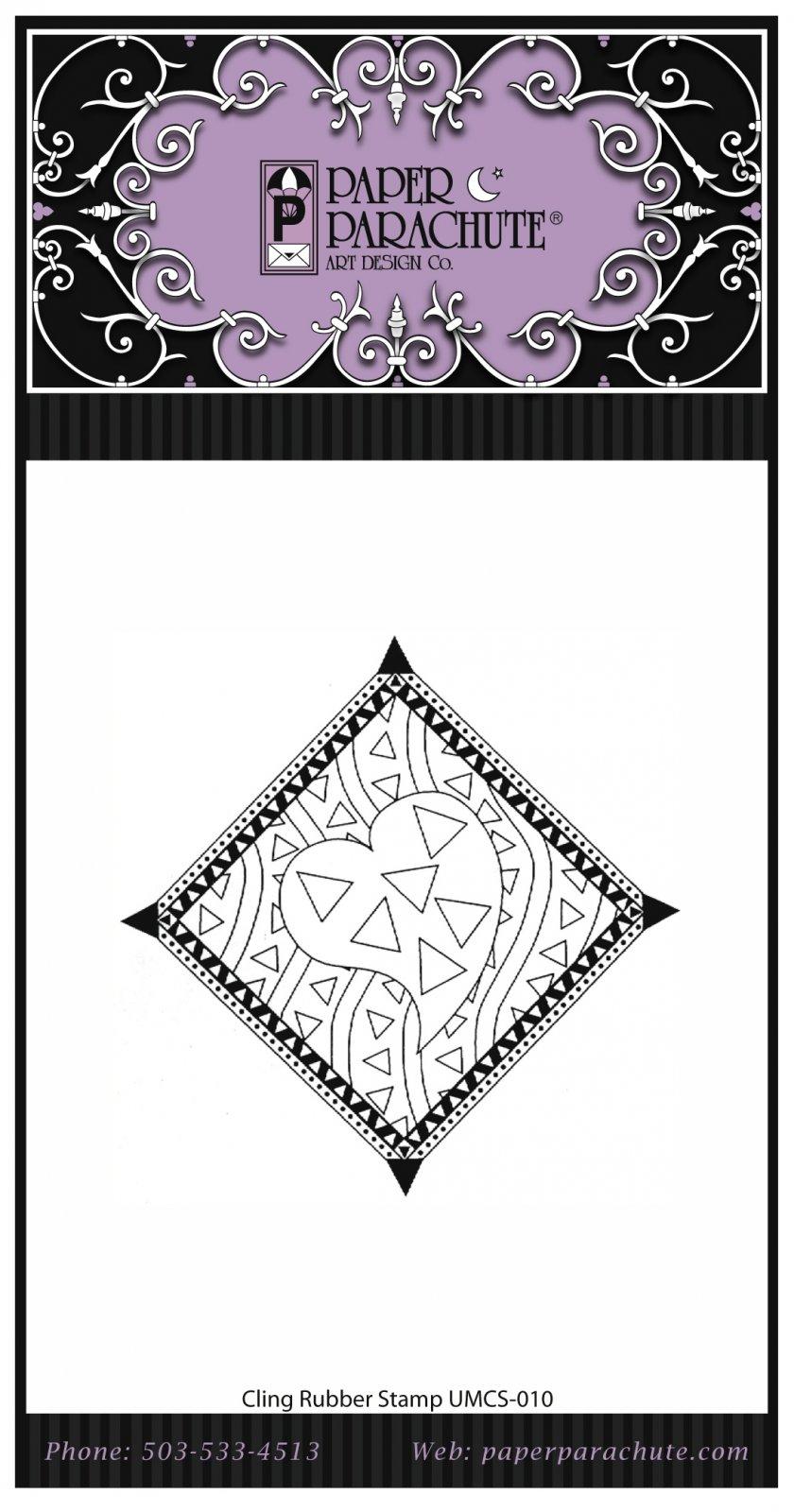 Paper Parachute Rubber Stamp -UMCS10
