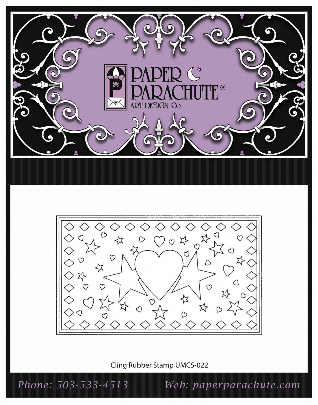 Paper Parachute Rubber Stamp - UMCS22