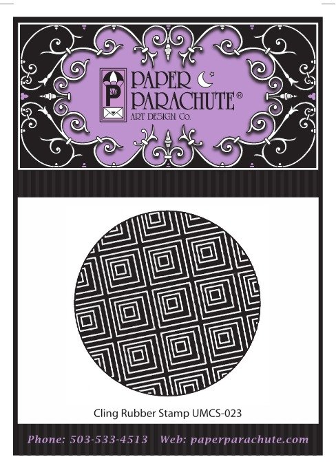 Paper Parachute Rubber Stamp - UMCS23