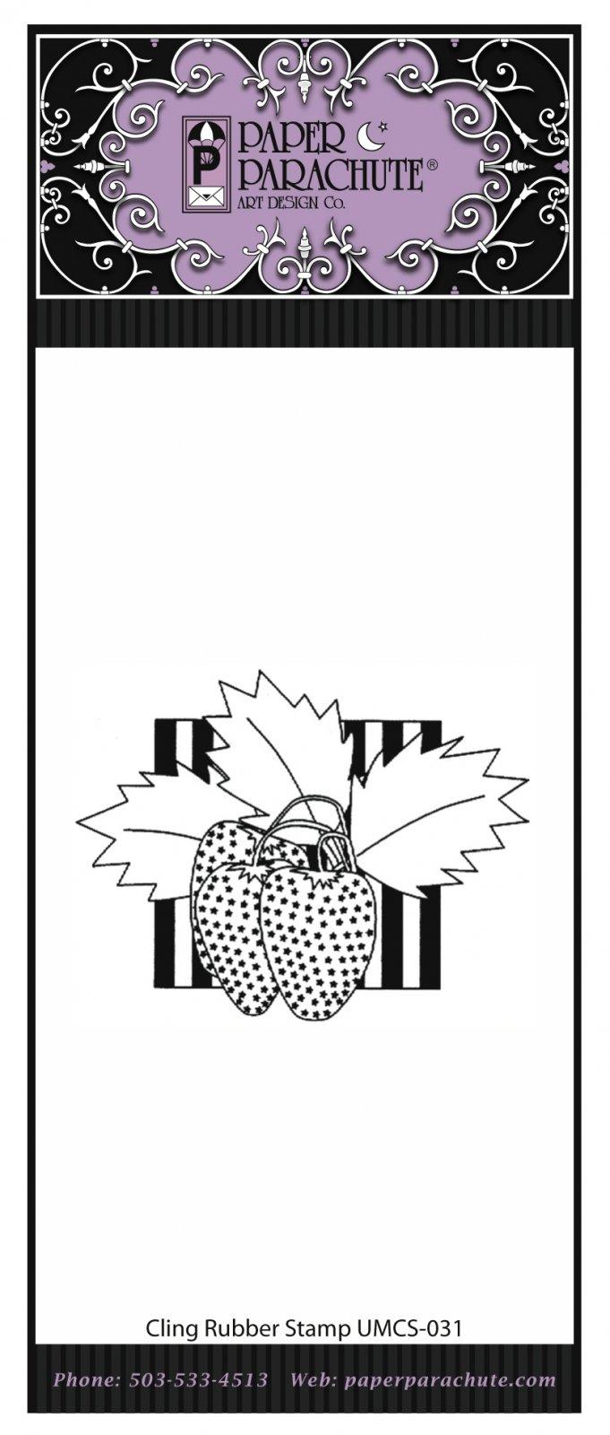 Paper Parachute Rubber Stamp - UMCS31
