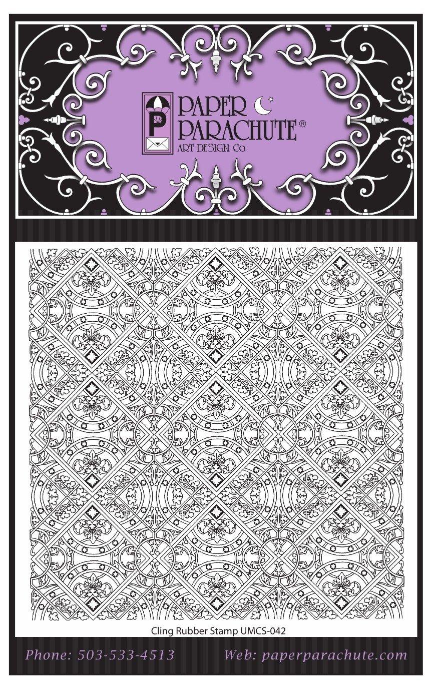 Paper Parachute Rubber Stamp - UMCS42