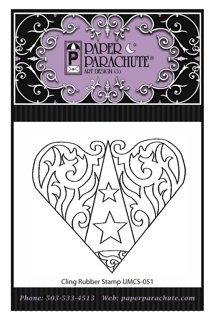 Paper Parachute Rubber Stamp - UMCS51