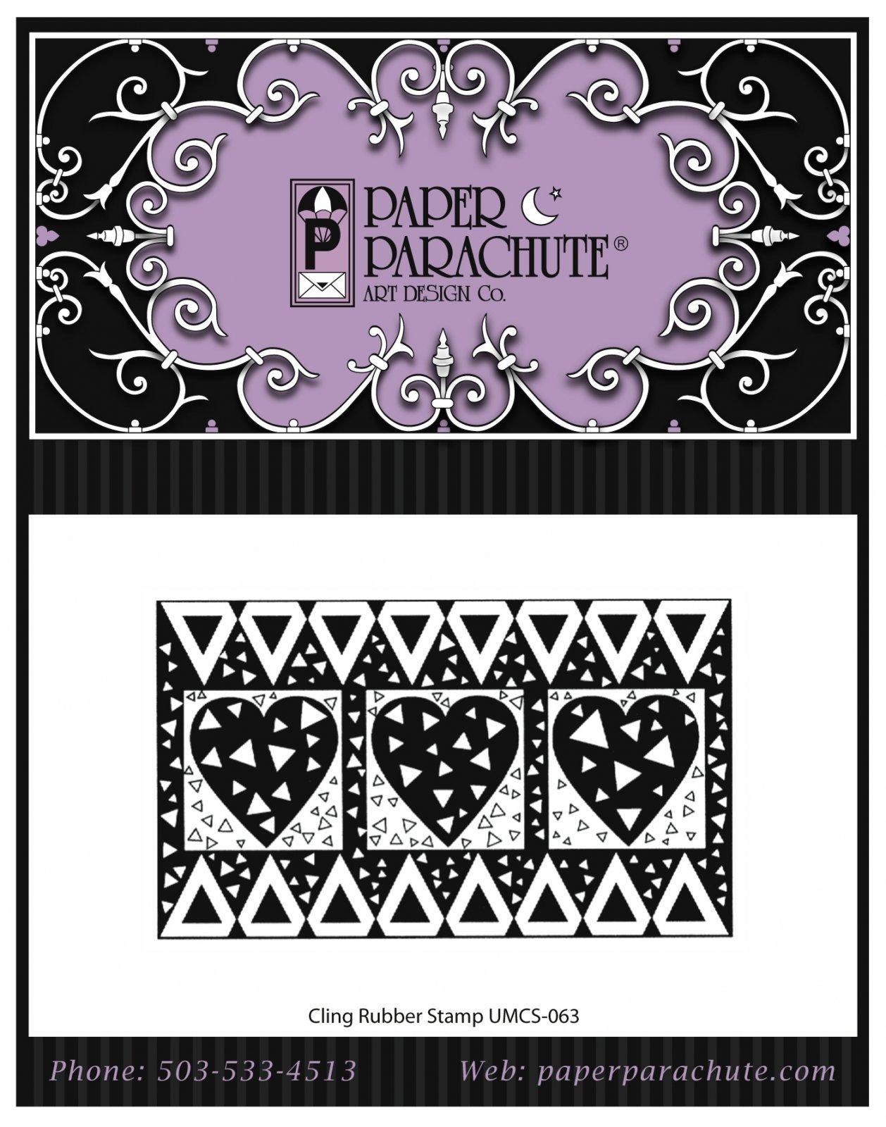Paper Parachute Rubber Stamp - UMCS63