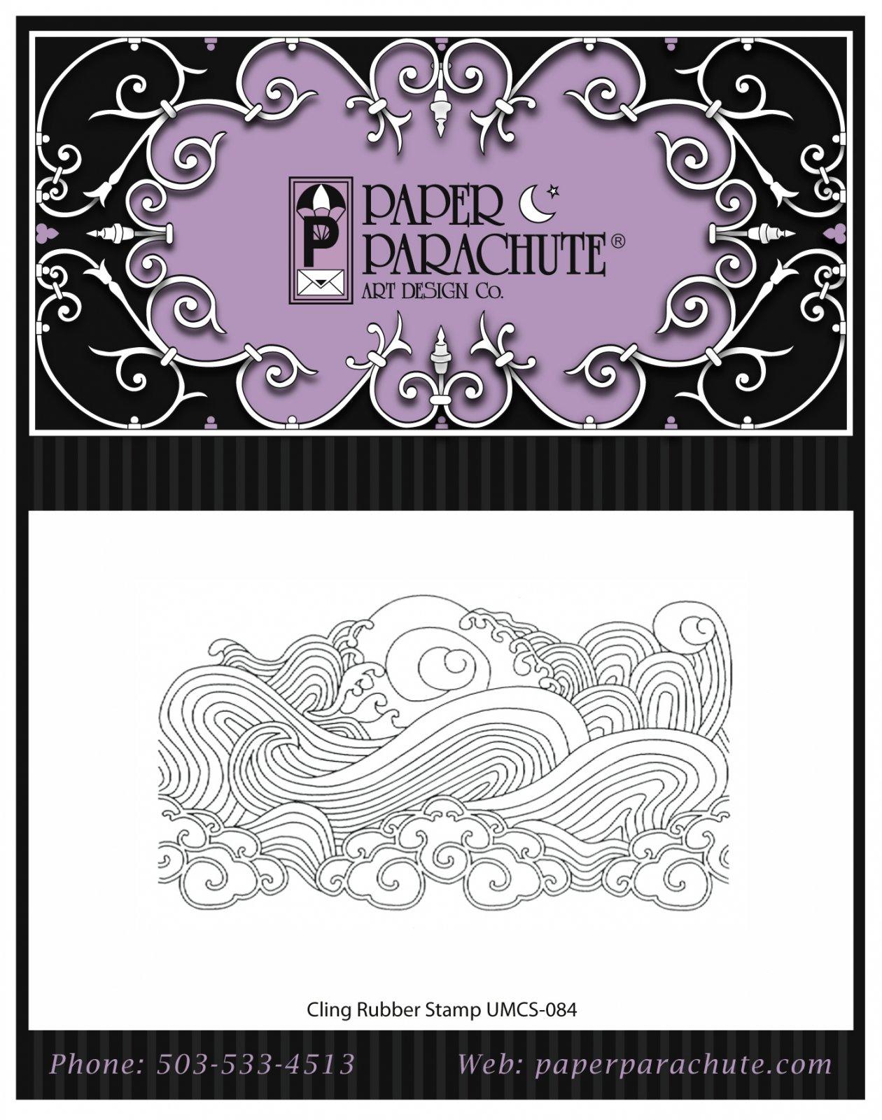 Paper Parachute Rubber Stamp - UMCS84