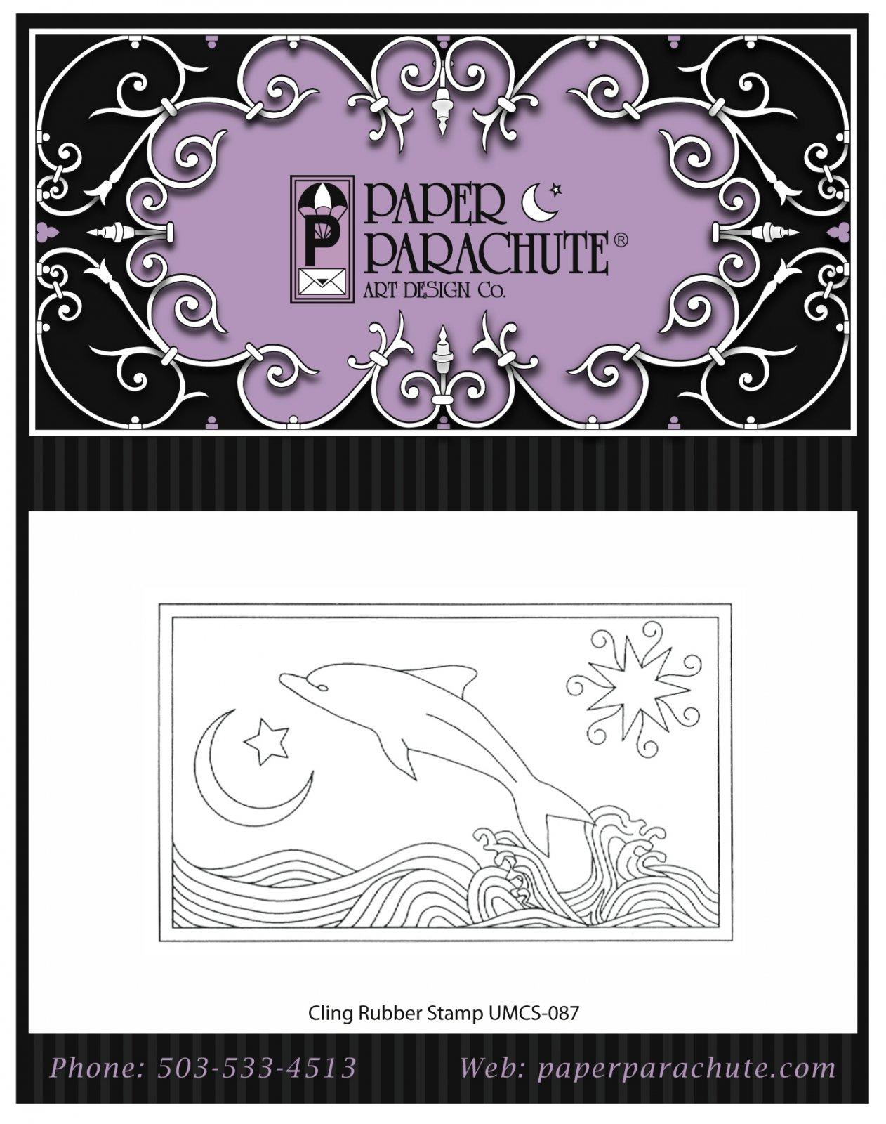 Paper Parachute Rubber Stamp - UMCS87