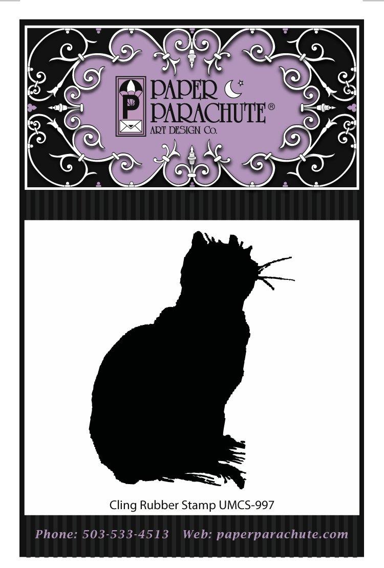 Paper Parachute Rubber Stamp - UMCS1000