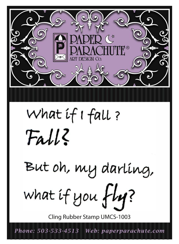 Paper Parachute Rubber Stamp - UMCS1003