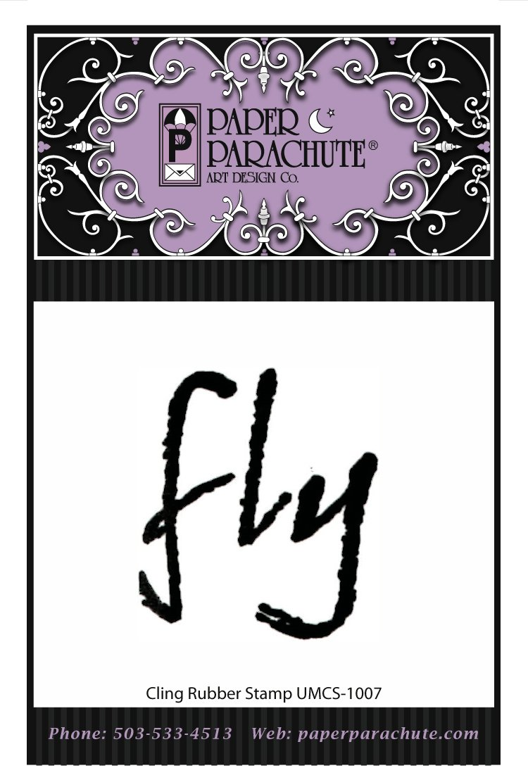 Paper Parachute Rubber Stamp - UMCS1007