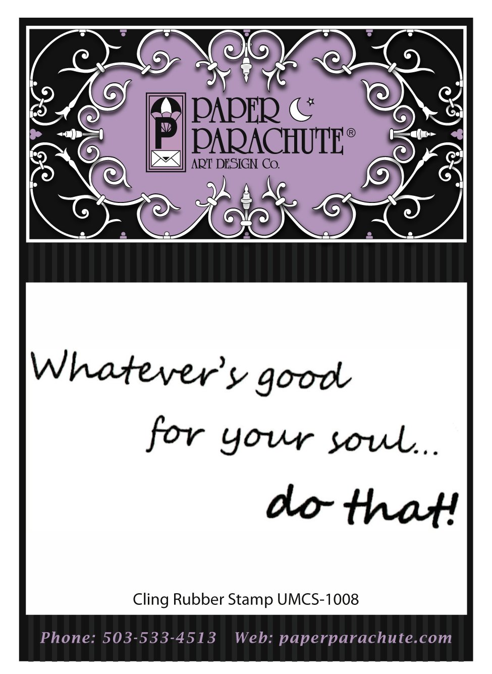 Paper Parachute Rubber Stamp - UMCS1008