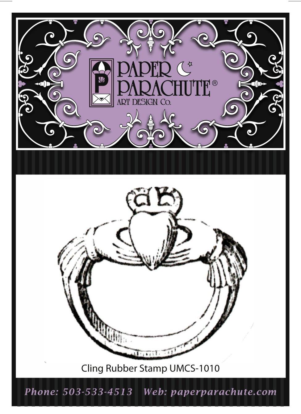 Paper Parachute Rubber Stamp - UMCS1010