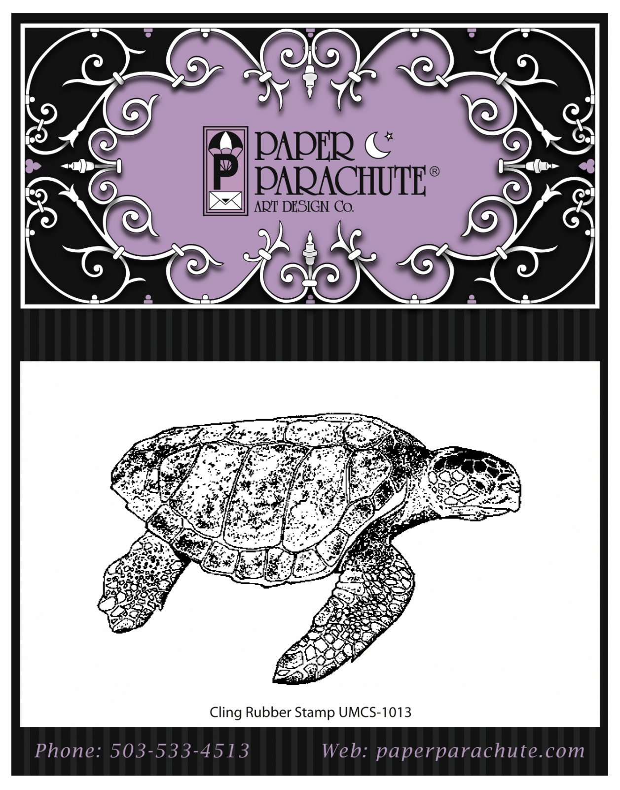 Paper Parachute Rubber Stamp - UMCS1013