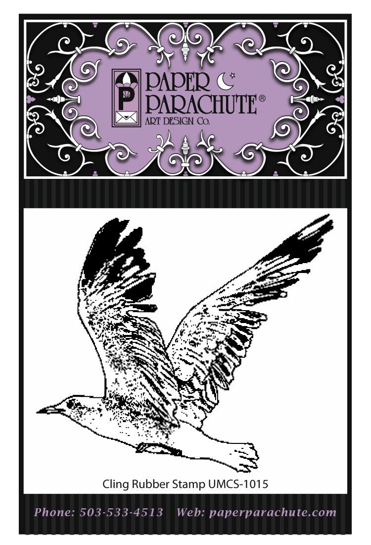 Paper Parachute Rubber Stamp - UMCS1015