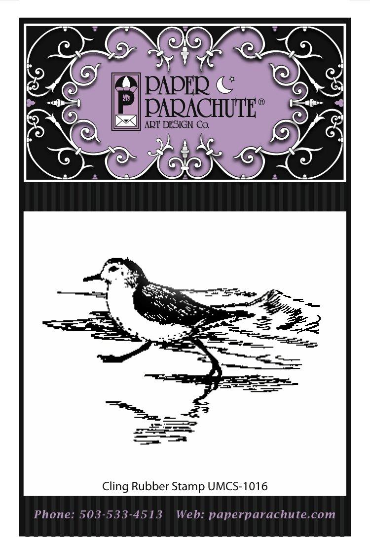 Paper Parachute Rubber Stamp - UMCS1016