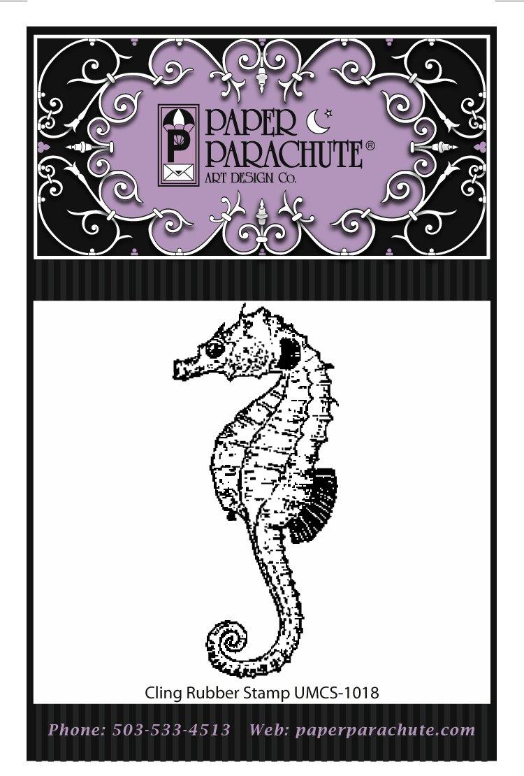 Paper Parachute Rubber Stamp - UMCS1018