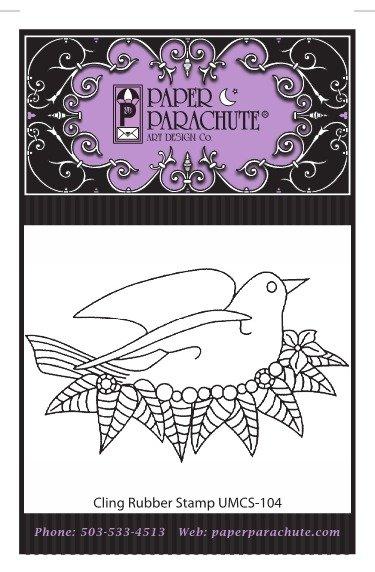 Paper Parachute Rubber Stamp - UMCS104