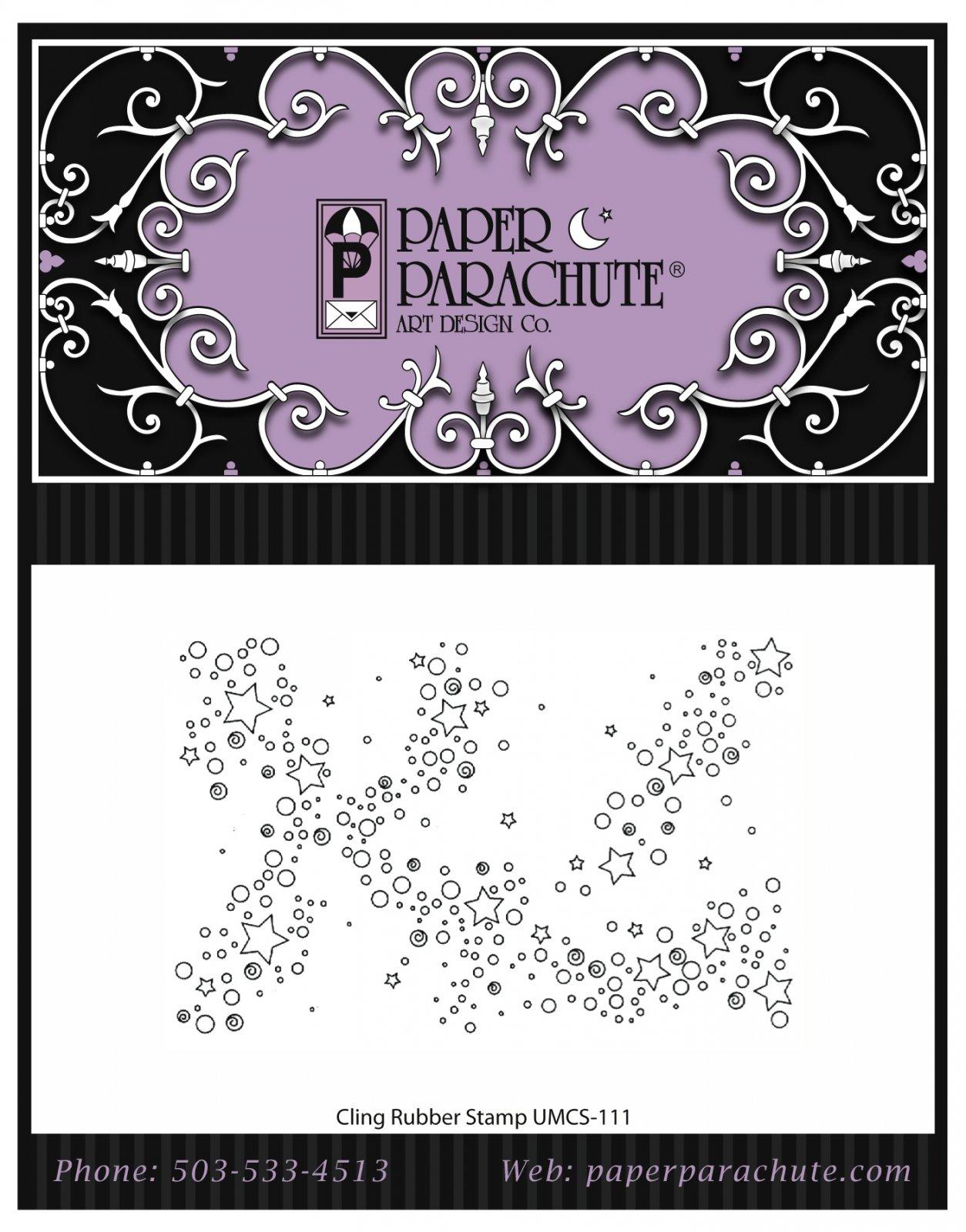Paper Parachute Rubber Stamp - UMCS111