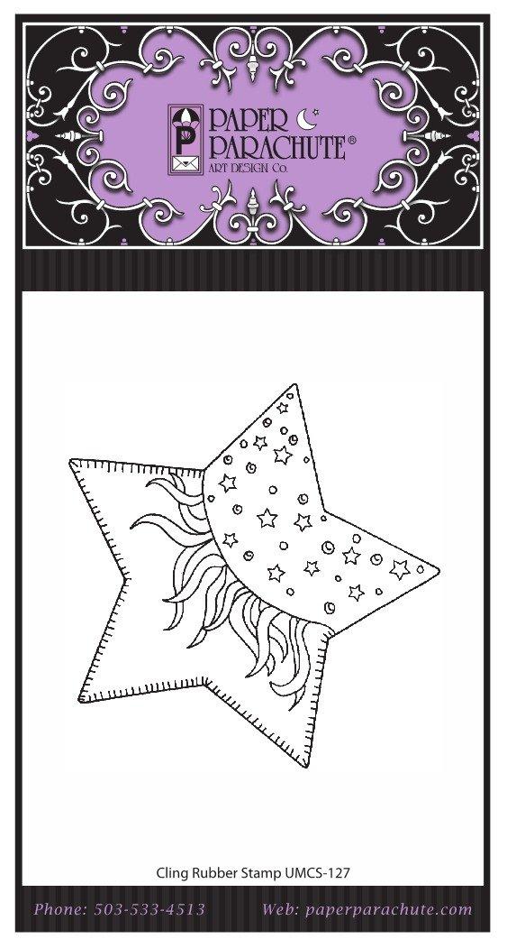 Paper Parachute Rubber Stamp - UMCS127
