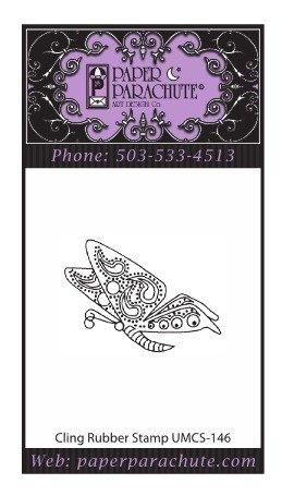 Paper Parachute Rubber Stamp - UMCS146