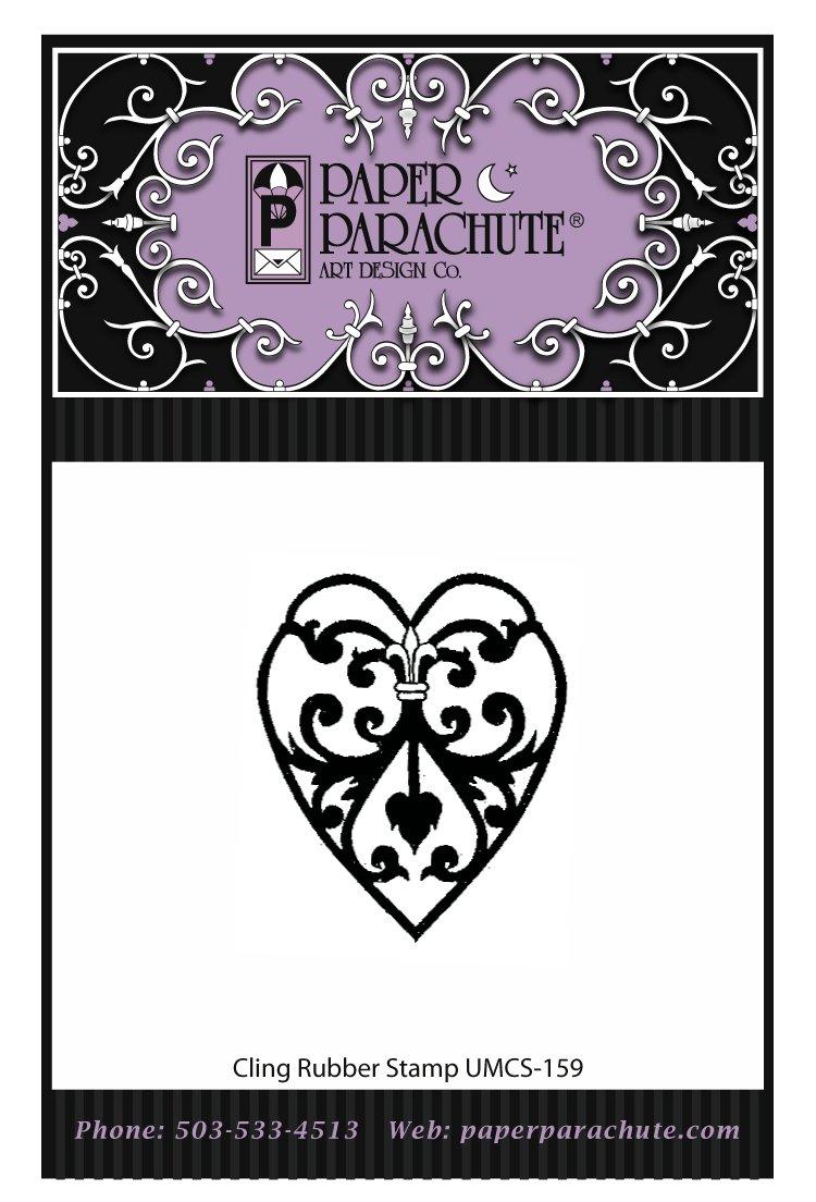Paper Parachute Rubber Stamp - UMCS159
