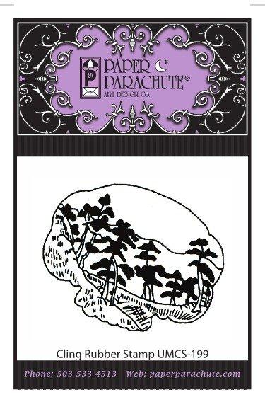 Paper Parachute Rubber Stamp - UMCS199