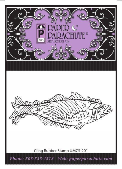 Paper Parachute Rubber Stamp - UMCS201