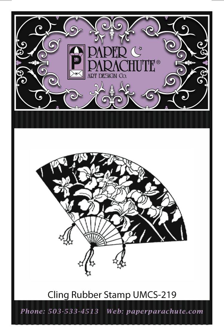 Paper Parachute Rubber Stamp - UMCS219