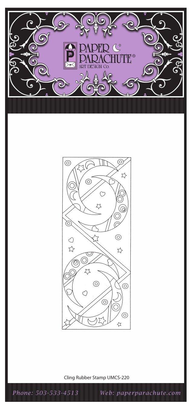 Paper Parachute Rubber Stamp - UMCS220