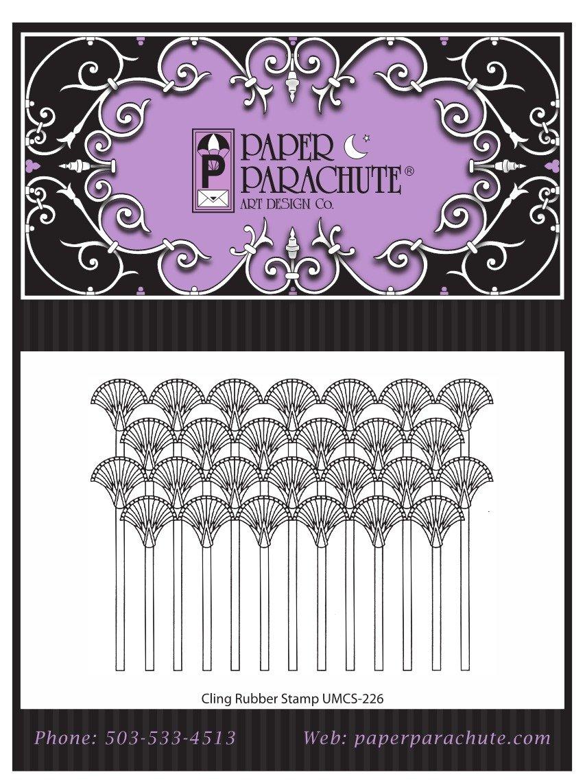 Paper Parachute Rubber Stamp - UMCS226