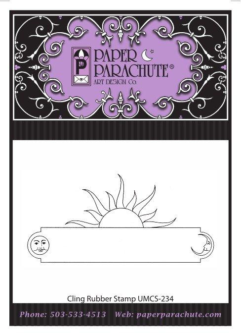 Paper Parachute Rubber Stamp - UMCS234