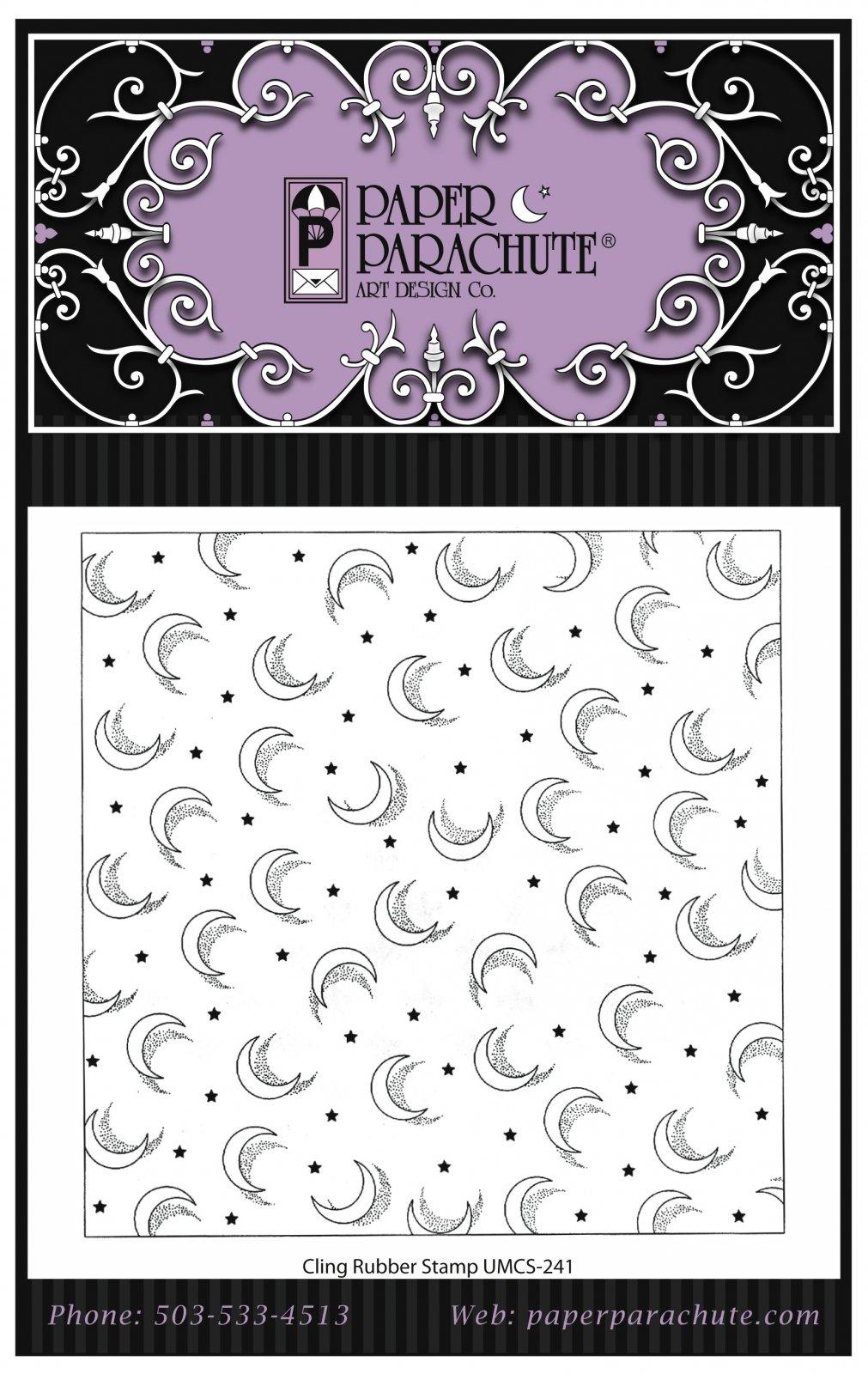 Paper Parachute Rubber Stamp - UMCS241