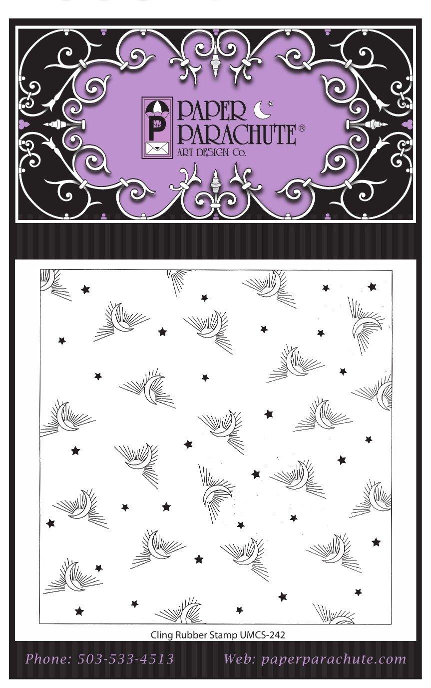 Paper Parachute Rubber Stamp- UMCS242