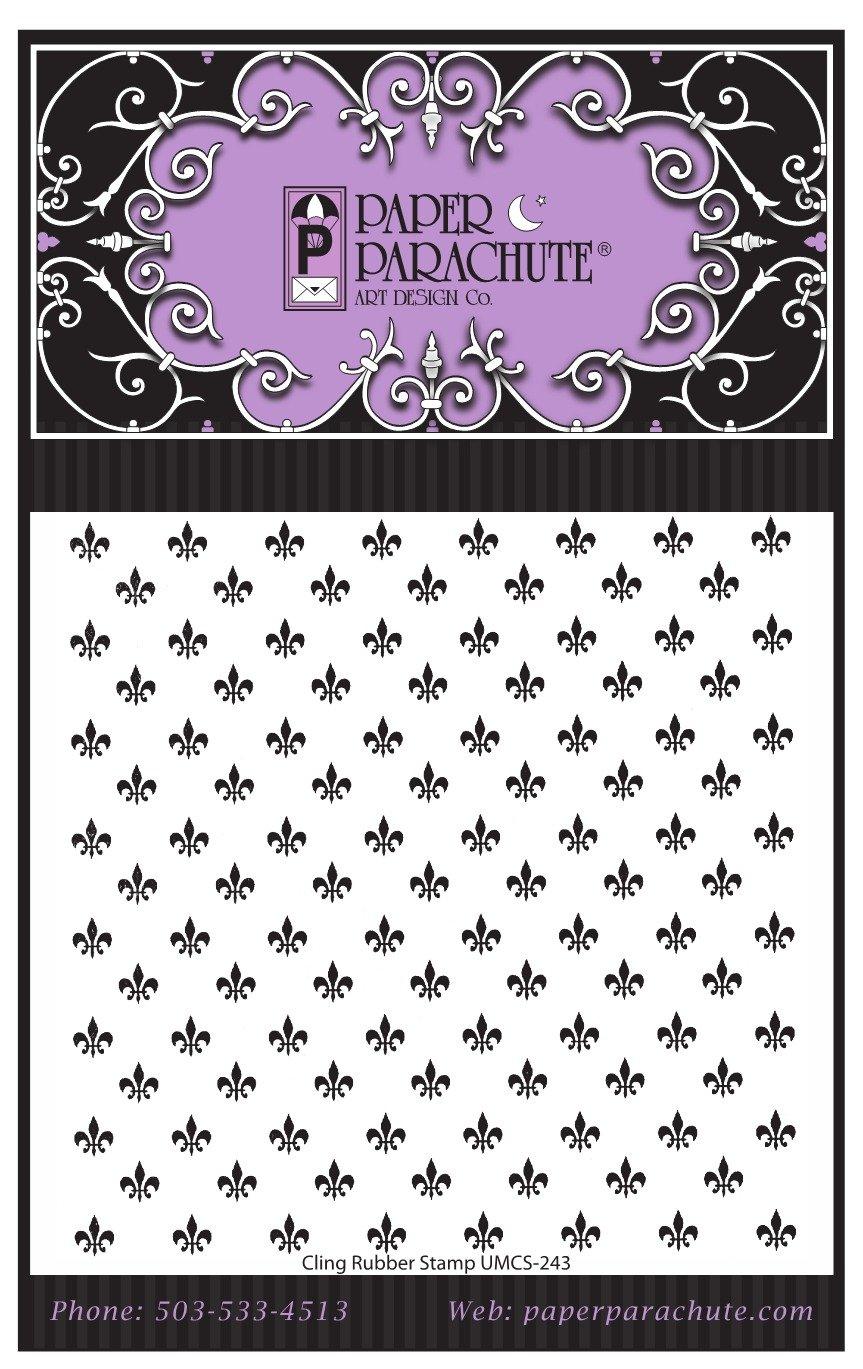 Paper Parachute Rubber Stamp - UMCS243