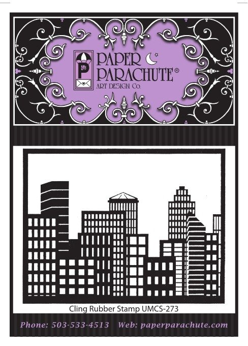 Paper Parachute Rubber Stamp - UMCS273