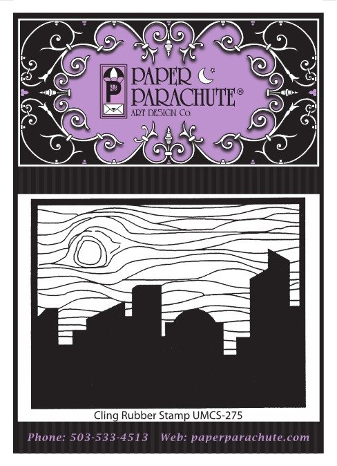 Paper Parachute Rubber Stamp - UMCS275