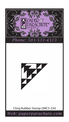 Paper Parachute Rubber Stamp - UMCS334
