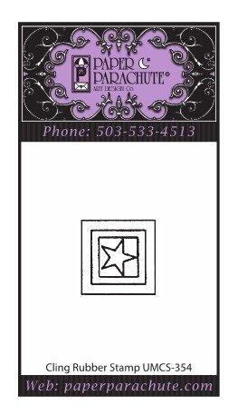 Paper Parachute Rubber Stamp - UMCS354