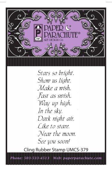 Paper Parachute Rubber Stamp - UMCS379