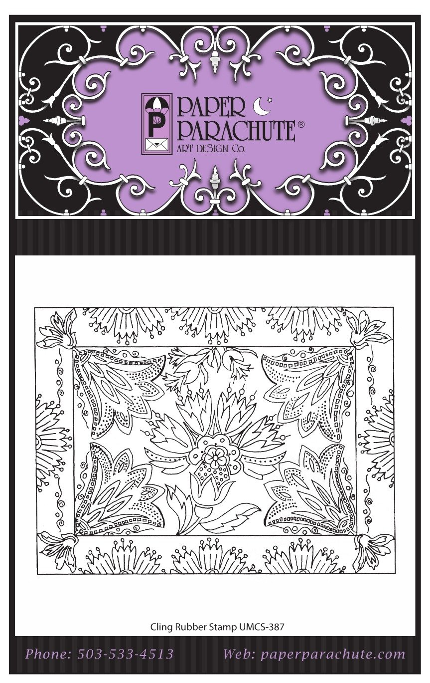 Paper Parachute Rubber Stamp - UMCS387