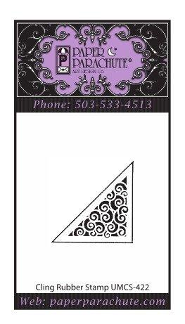 Paper Parachute Rubber Stamp - UMCS422