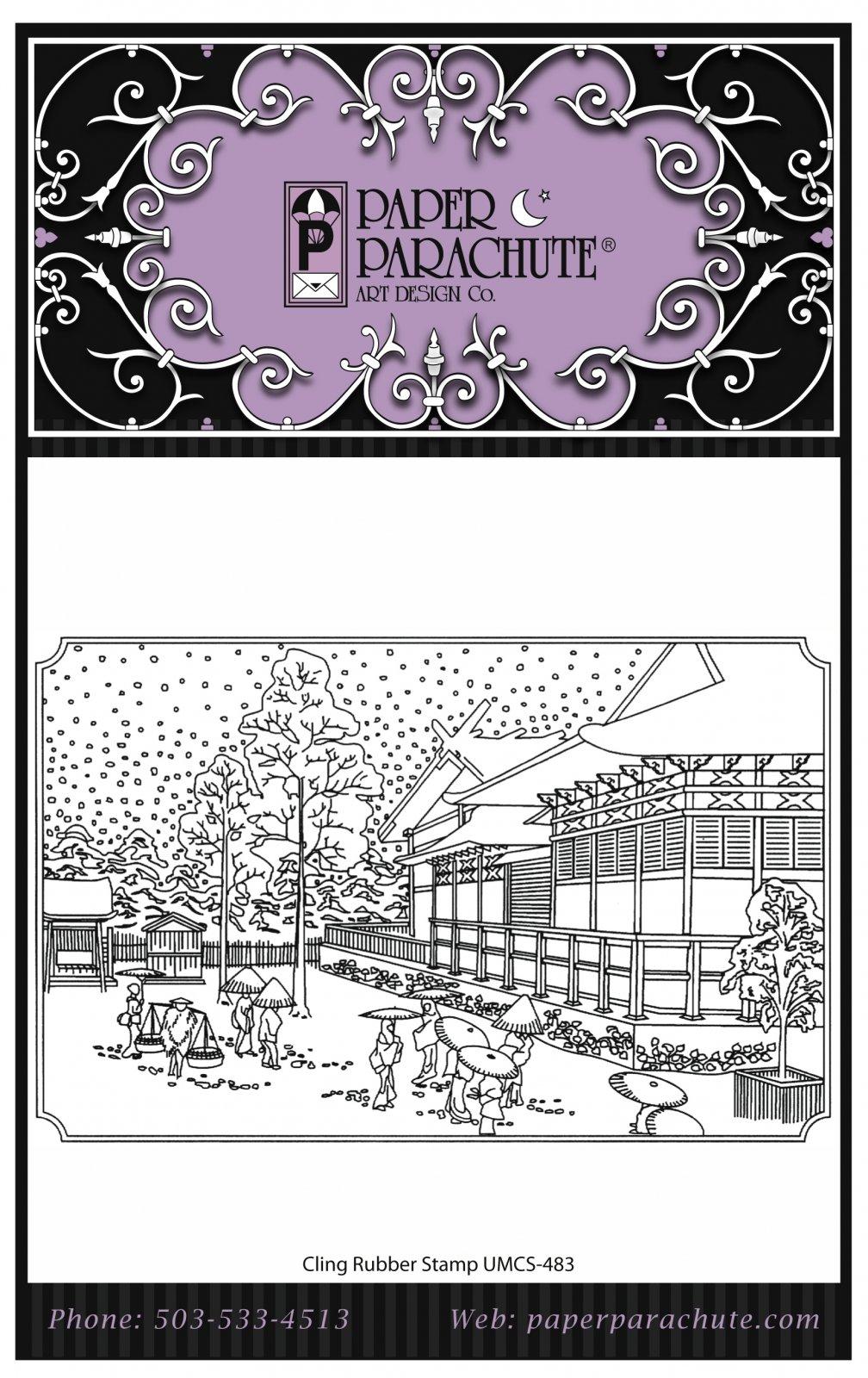 Paper Parachute Rubber Stamp - UMCS483