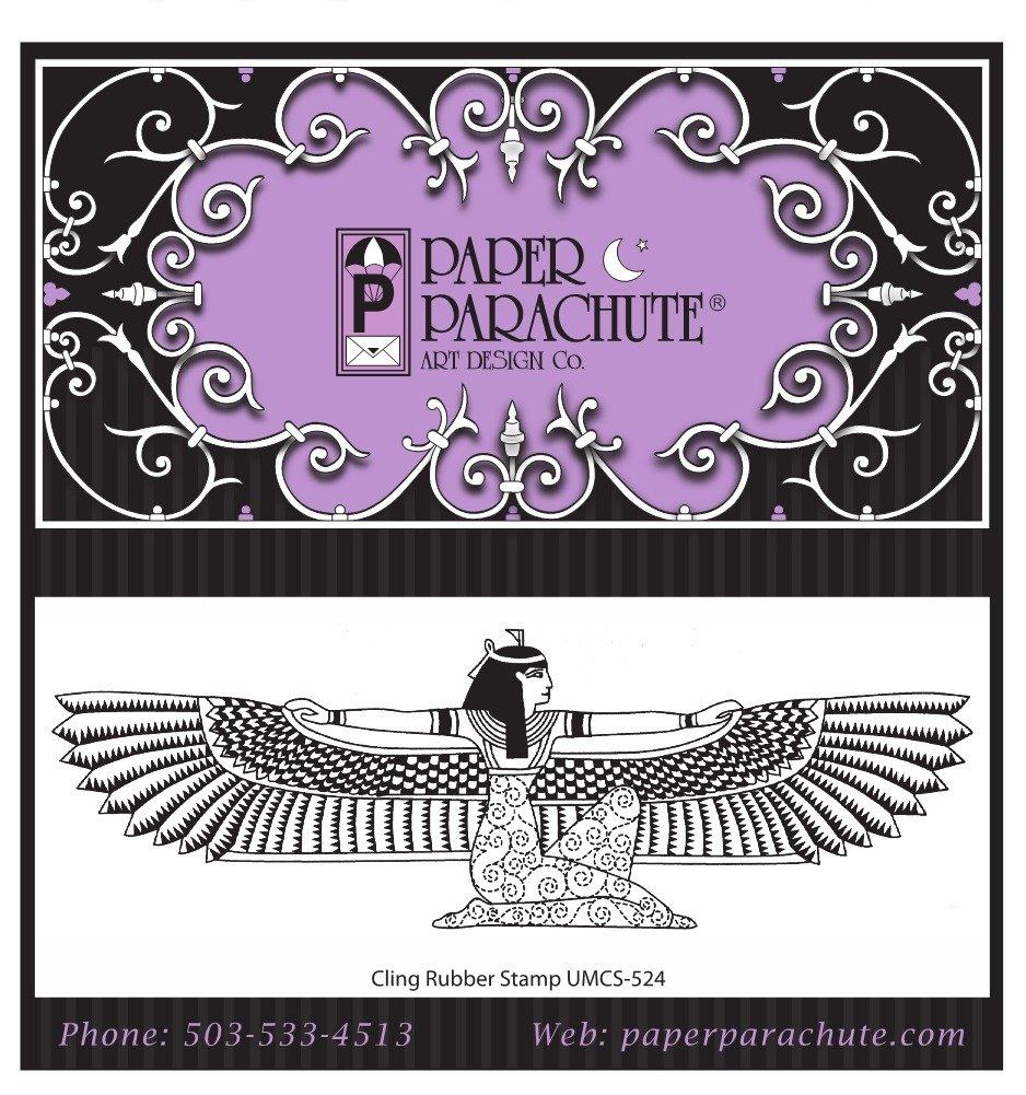Paper Parachute Rubber Stamp - UMCS524