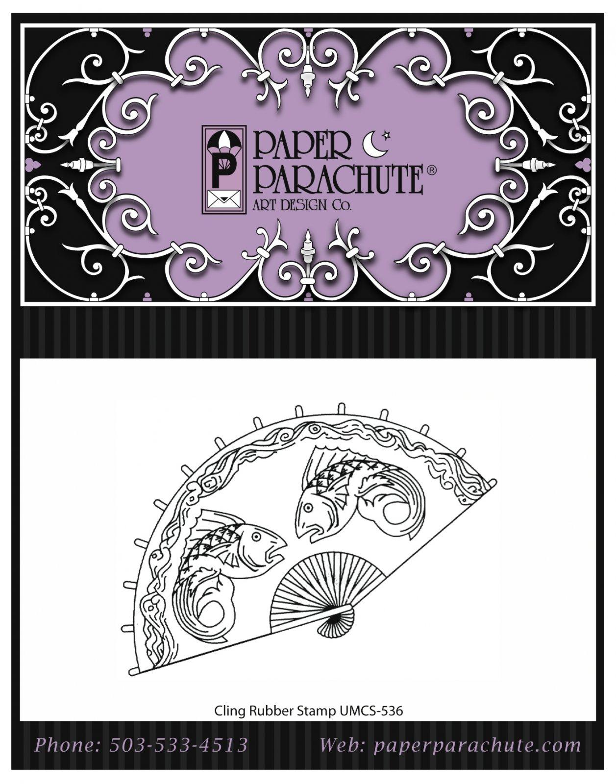 Paper Parachute Rubber Stamp - UMCS536