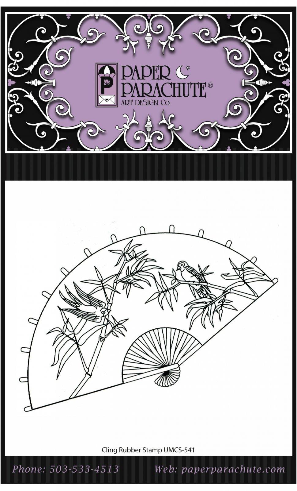 Paper Parachute Rubber Stamp - UMCS541