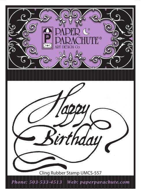 Paper Parachute Rubber Stamp - UMCS557