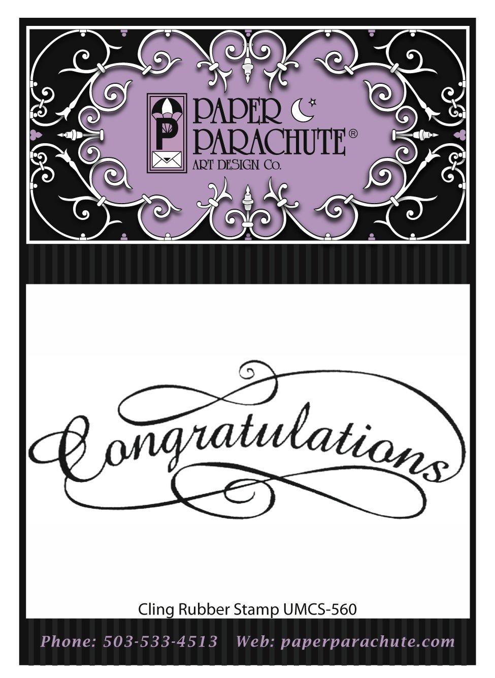 Paper Parachute Rubber Stamp - UMCS560
