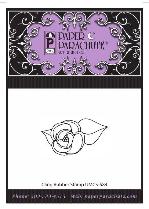 Paper Parachute Rubber Stamp - UMCS584