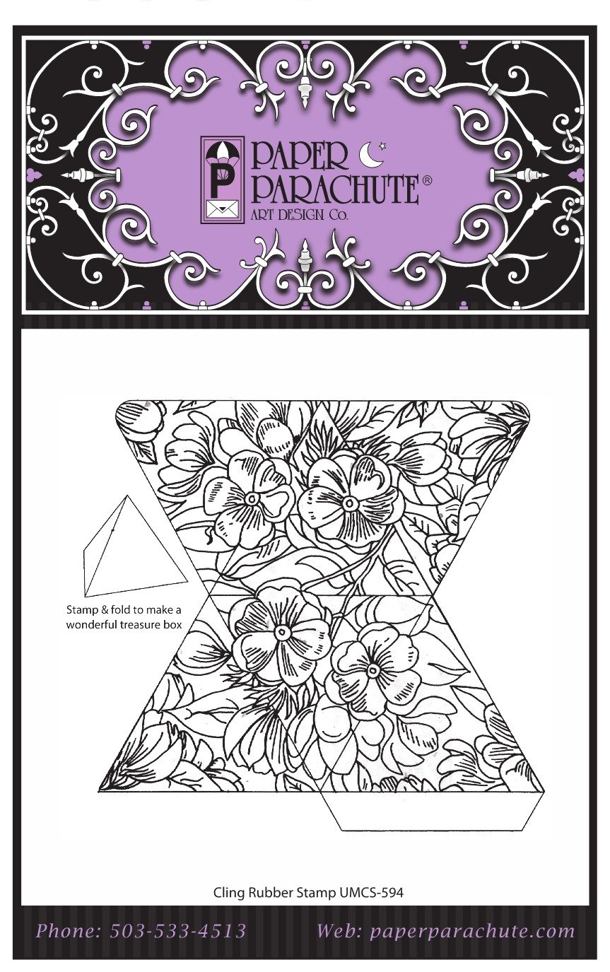 Paper Parachute Rubber Stamp - UMCS594