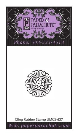 Paper Parachute Rubber Stamp - UMCS627