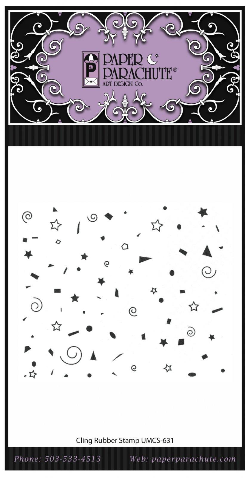 Paper Parachute Rubber Stamp - UMCS631